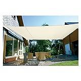 EDUPLAY 160130 Sonnenschutz Sonnensegel, 6x4m, Rechteck, wasserabweisend, cremeweiß (1 Stück)