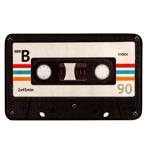 SimpleLife4U LoveFaye Old Fashioned Cinta de Audio Cassette Felpudo–Alfombra de Bienvenida para Puerta Dormitorio Alfombra de Entrada (15x 23Pulgadas