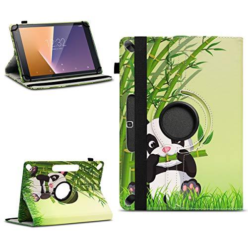 NAUC Tablet Schutzhülle für Vodafone Tab Prime 7/6 Universal Tasche Kunstleder Hülle Standfunktion 360 Drehbar Cover Case, Farben:Motiv 14