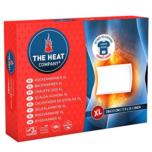 THE HEAT COMPANY Rückenwärmer XL - EXTRA WARM - klebend - Körperwärmer XL - 18 Stunden wohlige Wärme - sofort einsatzbereit - luftaktiviert - rein natürlich - 3 Stück
