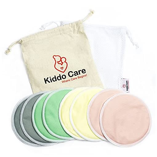Organic Bamboo Nursing Pads  Washable Breast Organic Bamboo Nursing Pads 51QQUQg 2BHCL