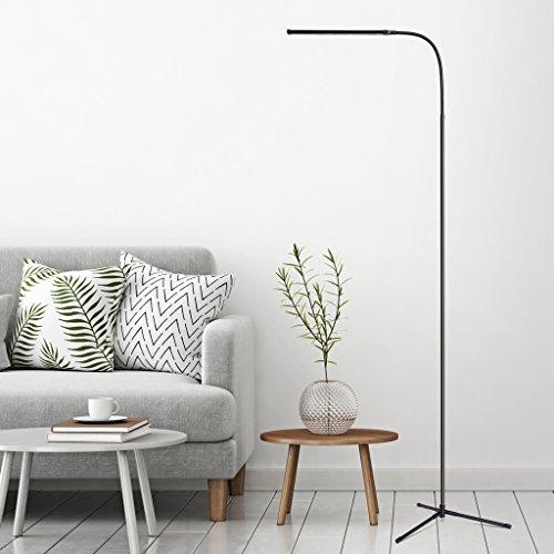 Slypnos lampada da terra e da tavolo, 3 in 1, led con usb, loungo arco sottile, pieghevole, girevole 360°, 4 luci regolabile, risparmiatore di energia, adatto a soggiorno, camera da letto, studio