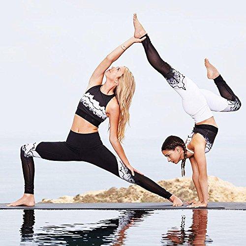 Pantalon de Sports pour femme,Tonwalk Sports/Gym/Yoga/Workout Pantalons athlétiques Blanc