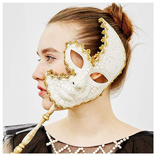 YUFENG Verschiedenen venezianischen Frauen und Herren Maske für maskenbälle, Party, Ball Ball, Mardi Gras, Hochzeit, Wandschmuck Weiß (Mardi Für Frauen Gras-masken)