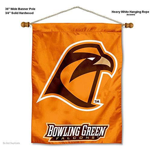College Flags and Banners Co. Bowling Green State Falken Banner mit Stange Zum Aufhängen