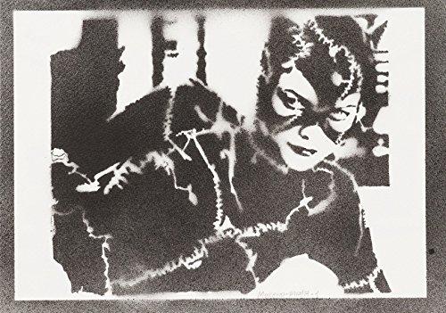 Catwoman Handmade Street Art - Artwork - Poster (Catwoman Kostüm Bilder)