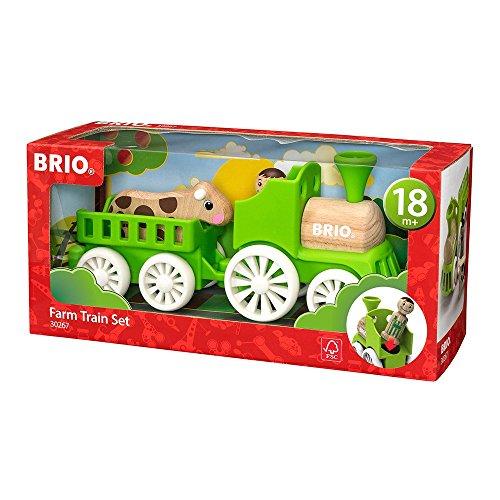 BRIO 30267 - Lok mit Kuh Anhänger, bunt