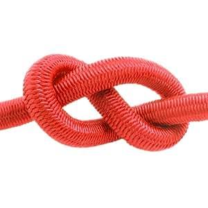50m corde élastique câble 4mm rouge - plusieurs tailles et couleurs