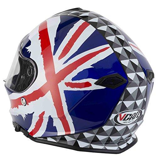 Vcan V127casco integrale moto/Moto–Union Jack