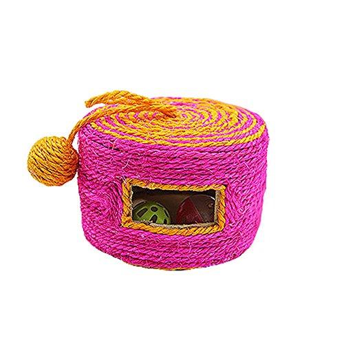 e Sisal Roller Kratzbaum Kitten Grinding Claws Toy mit Bell Balls,für Katze Kitty Kätzchen Haustiere,Outdoor/Indoor-Aktivität Spielzeug - zufällige Farbe ()