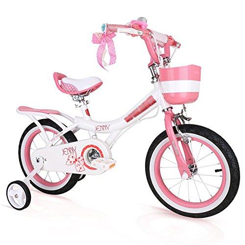 ZHIRONG Bicyclette Pour Enfants Rose, Rose Clair, Violet Taille 12 Pouces, 14 Pouces, 16 Pouces, 18 Pouces Sortie Extérieure ( Couleur : Pink white , taille : 18 inch )