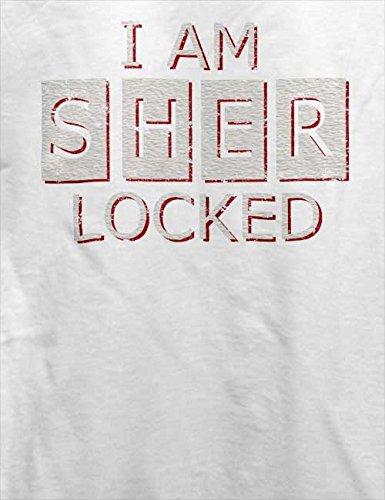 I Am Sherlocked Vintage T-Shirt Weiß
