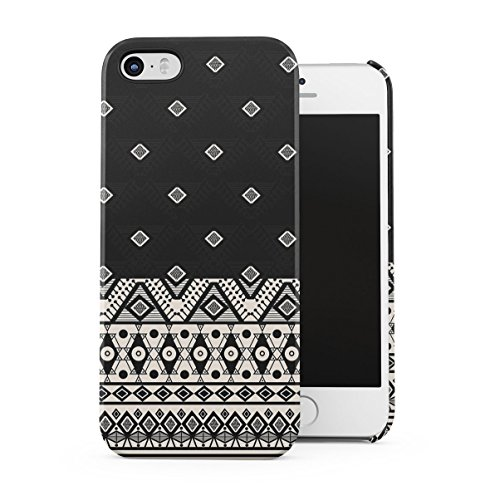 Triangles Mosaic Boho Galaxy Colorful Pattern Apple iPhone 5C Snap-On Hard Plastic Protective Shell Case Cover Custodia Brown Native Mosaic