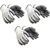 SAFEYURA Cut Resistance Gloves for Garden and Soil Works -3 Pairs