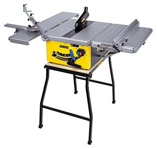 DeWalt Tischkreissäge DW745/ Leistungsstarke Säge mit Parallel- und Gehrungsanschlag für höchste Präzision / Tischkreissäge inkl. HM-Sägeblatt und Absaugreduzierung / 1850W - 3