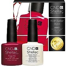 CND Shellac UV/LED polaco, Rouge Rite/Negligee 7,3ml–pack de 2