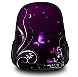 Luxburg® Design sac à dos multifonction cartable collège backpack, motif: Papillons lilas
