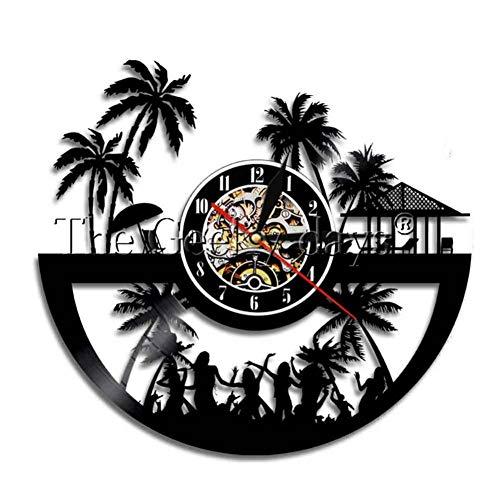 TIANZly Schallplatte Wanduhr Myrtle Beach Wanduhr Reisen Skyline Art Wall Art Vinyl Record Clock, Freunde Geschenk