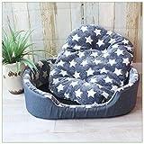 TYIOWALI Luxury Pet Zwinger Haus Warm Großer Hund Katze Bett Kissen Matte Sofa S M L XL, L