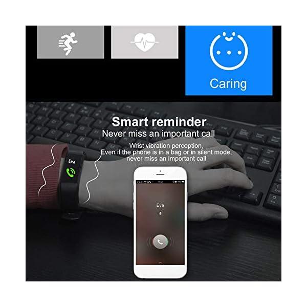 Fitness Tracker, reloj de seguimiento de actividad con monitor de frecuencia cardíaca, IP67 a prueba de agua con contador de pasos, contador de calorías, reloj de podómetro para niños y mujeres 4