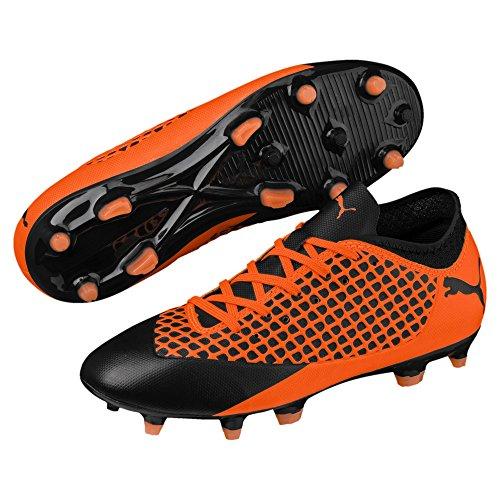 Puma Future 2.4 FG/AG Kinder Fußballschuhe Black-Orange 3_Youth