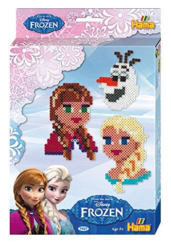 Hama 7957 - Geschenkpackung Disney Frozen, circa 2000 Bügelperlen, Stiftplatte und Zubehör, bunt