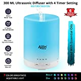 Allin Exporters Ultrasonic Diffuser And Humidifier Different Colorful Led Light Modes 300 Ml