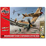 Airfix A50014 Dogfight Doubles Spitfire MkVB and Messerschmitt Bf109F-4 1:72 Scale Plastic Model Gift Set