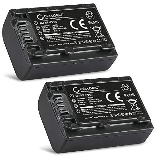 Cellonic 2X Batteria Compatibile con Sony FDR-AX53 AX100 AX700 FDR-AX33 HDR-CX625 -CX900 -CX220...