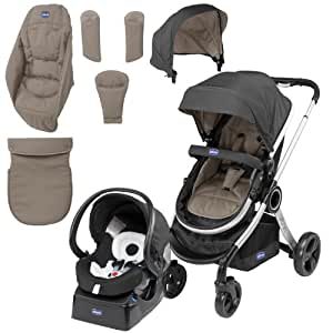 chicco urban pushchair travel system bundle in beige baby. Black Bedroom Furniture Sets. Home Design Ideas