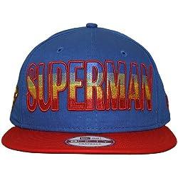 New Era 9Fifty Héroe Degradado Superman Gorra Snapback - Azul & Rojo, Mediana/Grande