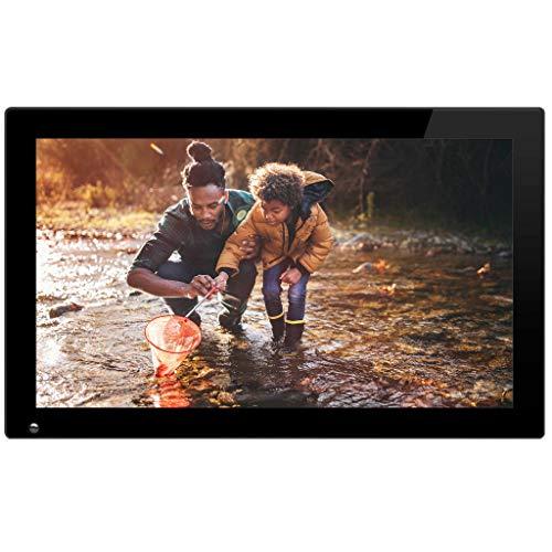 NIXPLAY Original WLAN Digitaler Bilderrahmen 18 Zoll. Fotos & Videos per App oder Email an den Elektronischen Fotorahmen übertragen. Auto On/Off Funktion. Fernbedienung