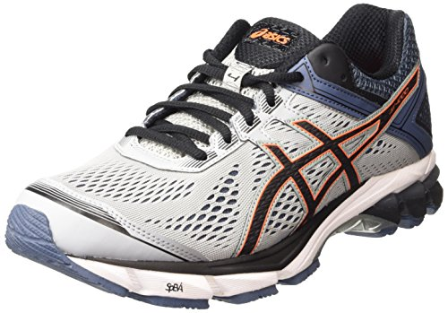 ASICS Gt-1000 4, Herren Laufschuhe, Grau (silver Grey/black/hot Orange 9690), 44.5 EU