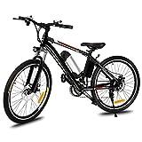Acecoree 26 Zoll Fahrrad Mountainbike Elektrofahrrad Faltbare E-Bike pedelec Fahrrad mit Kapazität Lithium-Akku,LED-Anzeige,250W Max. 35km/h (Schwarz 07)