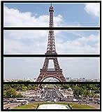Wallario Möbelfolie/Aufkleber, geeignet für Ikea Malm Kommode - Eiffelturm in Paris mit 4 Schubfächern