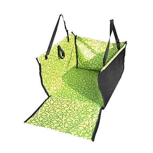 Verstellbare Wasserdichte Pet Cat Dog Rückseite Hängematte Autositz Bezug Matte Decke Zubehör(grün )