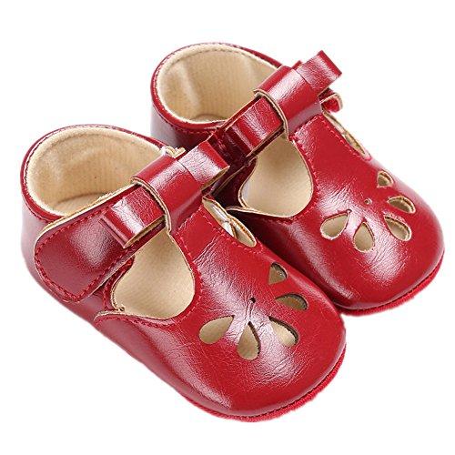 Baby Schuhe, Morbuy Sommer Fashion Unisex Sandalen Neugeborene 0-18 Monate Anti-Rutsch Weiche Alleinige Kleinkind Schuhe Krabbelschuhe Wanderer Weiche Alleinige Schuhe (13cm, Rot)