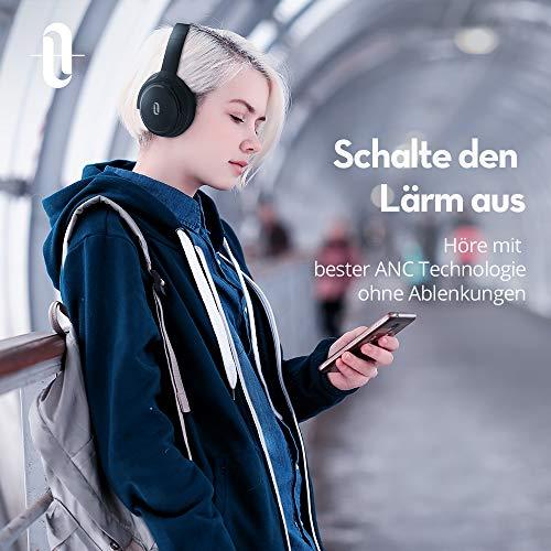TaoTronics Noise Cancelling Kopfhörer Bluetooth Kopfhörer Over Ear mit aktiver Rauschunterdrückung 25 Std. Laufzeit, TT-BH22 mit eingebauten Mikro CVC 6.0, duale 40 mm Tieftontöner, Faltbare Ohrhörer - 2