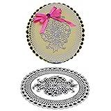 Lazzboy Fustelle Natale Scrapbooking Metallo Stencil Paper Card Craft per Sizzix Big Shot/Altre Macchine(G, Cornice Rotonda di Fiori)