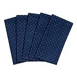 Taschentücher aus Stoff, waschbare, wiederverwendbare Öko Stoff-Taschentücher aus Baumwolle, 5 Taschentücher - Made in Germany (Waldseen)