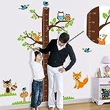 Missley Eichhörnchen Höhe Fuß Wandaufkleber Doppel Wandtattoo PVC Abnehmbare Wandaufkleber für Kinder Kinder