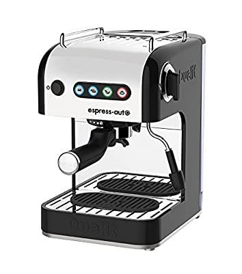 Dualit Espress-auto 4 in 1 Coffee and Tea Machine 84516, Stainless Steel and Aluminium, 1.5 liters, Black