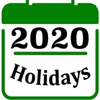 Holiday calendar 2020 2019