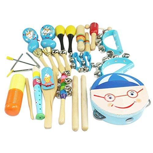 HappyCherry® 16 in 1 Baby Musikinstrument Spielzeug Percussion-Set bestes Geschenk für Kinder - Blau