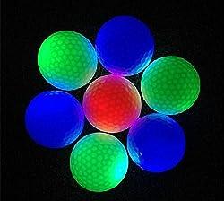 3er Pack Leuchtender Led Golfball Rot, Grün, Blau ! (Rot)