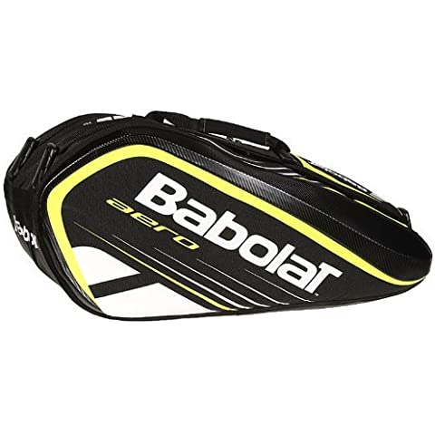 BABOLAT Aero Line 9 Racket Bag, Black/Yellow by Babolat