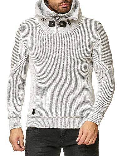 Redbridge uomo maglia a costine con collo alto doppio invernale moda maglione