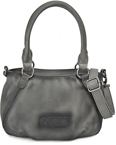FRITZI AUS PREUSSEN, Damen Henkeltaschen, Handtaschen, 17 x 21 x 38 cm (B x H x T), Farbe:Dunkelgrau (Aruba Kurze Herren)