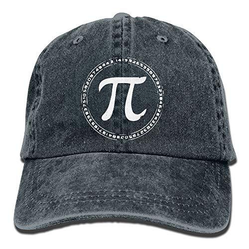 Personality Caps Hats 2019 Adult Fashion Cotton Denim Baseball Cap Funny Math PI-1 Classic Dad Hat Adjustable Plain Cap (Halloween Chicago 2019 Ball)