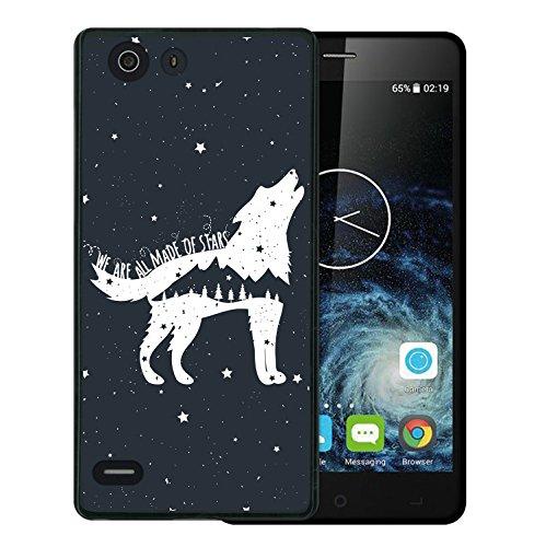 Elephone S2 Hülle, WoowCase Handyhülle Silikon für [ Elephone S2 ] Wolfphrase: We are all made of stars Handytasche Handy Cover Case Schutzhülle Flexible TPU - Schwarz